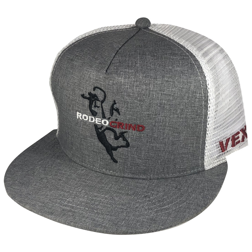 Vexil Brand - RodeoGrind Bull - Heather Gray/White Mesh
