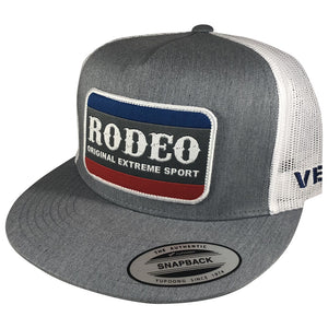 Vexil Brand - Rodeo Patch - Heather Gray/White Mesh