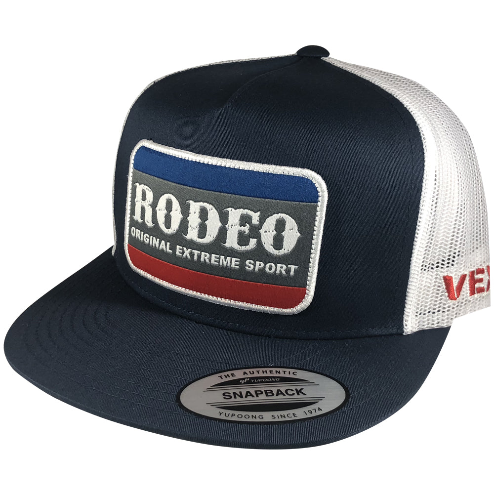 Vexil Brand - Rodeo Patch - Navy/White Mesh