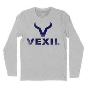 Vexil Brand - Distressed Logo - Long Sleeve - Heather Grey