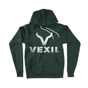 Vexil Brand - Hoodie - Distressed Logo - Forest Green