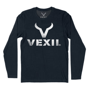 Vexil Brand - Distressed Logo - Long Sleeve - Midnight Navy