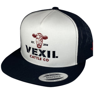 Vexil Cattle Co. - Est. 2014 - White/Black Mesh