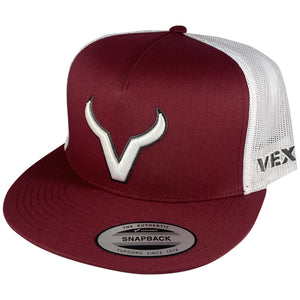 Vexil Brand - White Icon - Red Berry/White Mesh