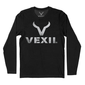 Vexil Brand - Distressed Logo - Long Sleeve - Black