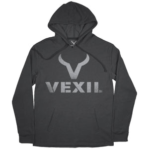 Vexil Brand - Hoodie - Distressed Logo - Heather Black