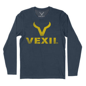 Vexil Brand - Distressed Logo - Long Sleeve - Indigo