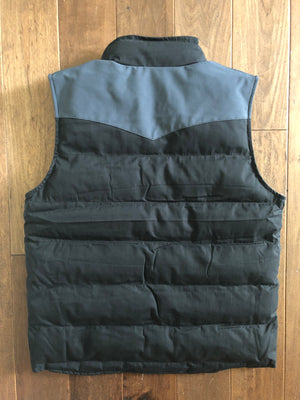 Vexil Brand - Men's Insulated Vest - Black/Charcoal