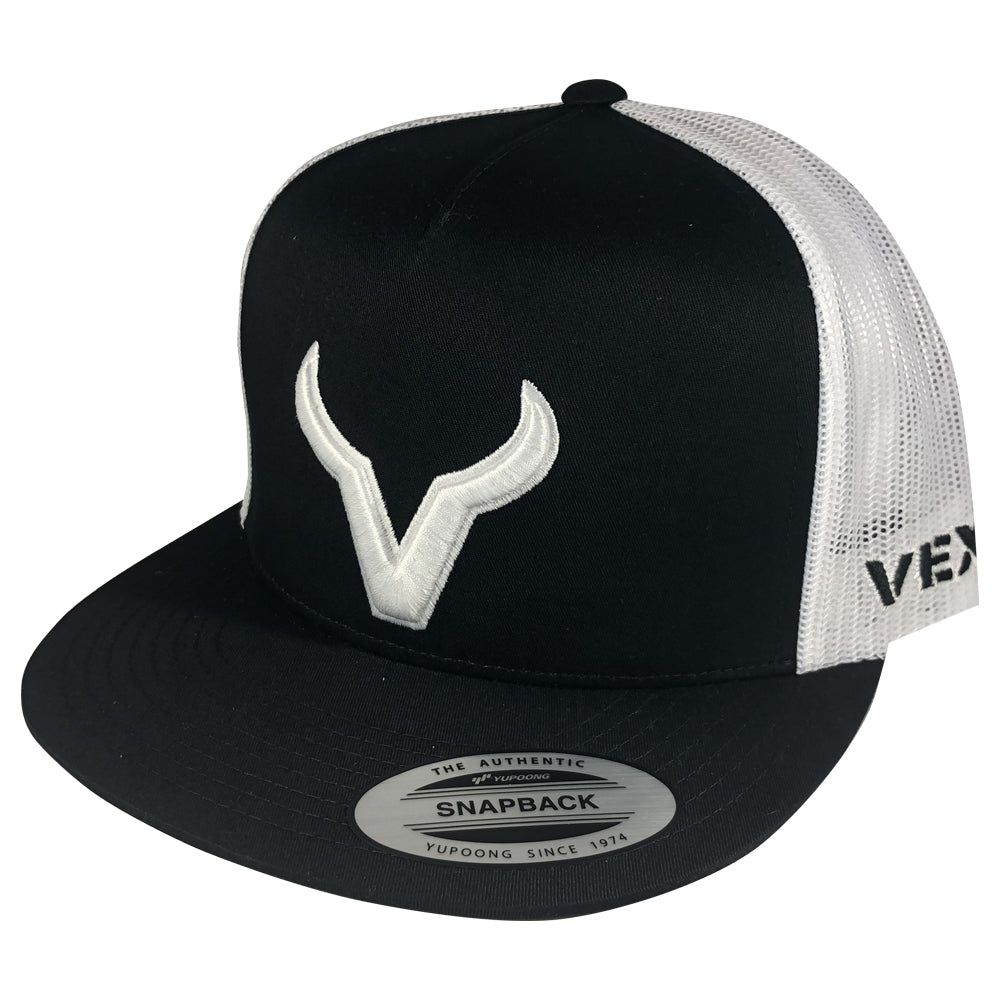 Vexil Brand - White Icon - Black/White Mesh