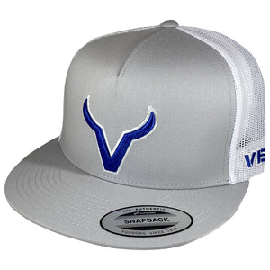 Vexil Brand - Blue Icon - Gray/White Mesh