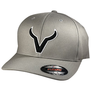 Vexil Brand - Black Icon - Gray FlexFit