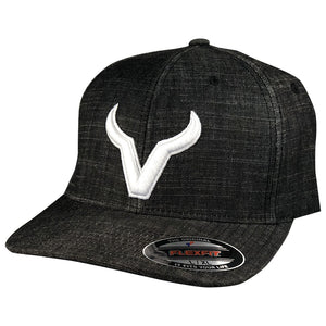 Vexil Brand - White Icon - Heather Black FlexFit