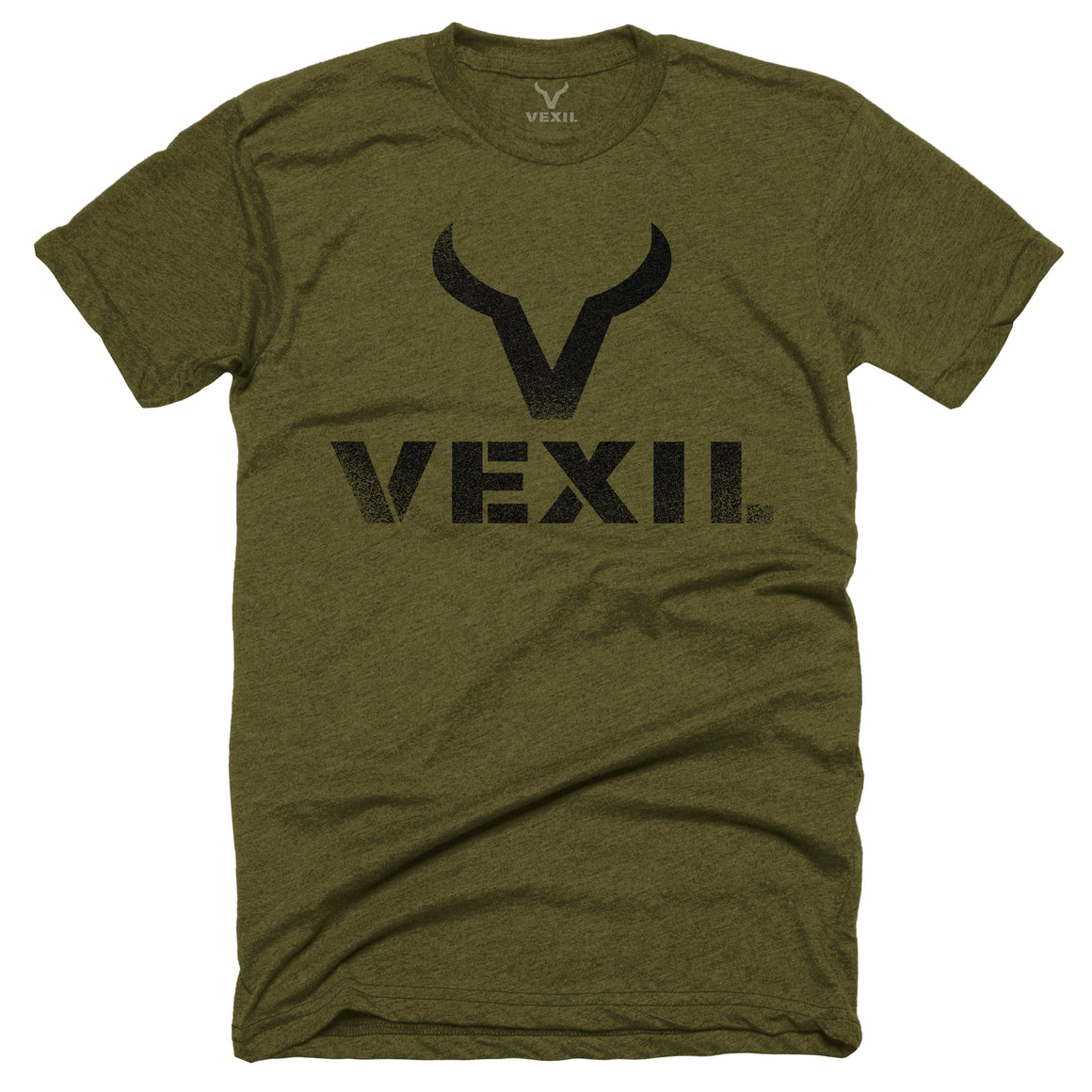 Vexil Brand - Distressed Logo - Military Green