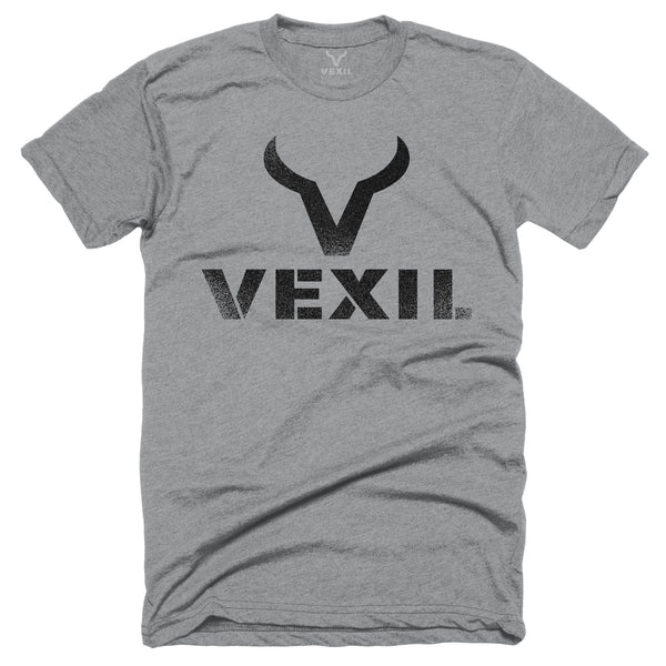 Vexil Brand - Distressed Logo - Heather Grey