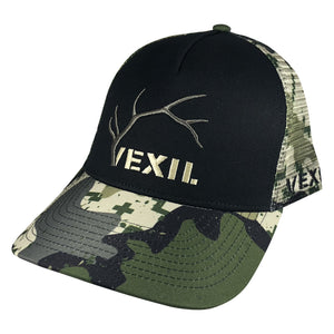 Vexil Outdoors - Elk Logo - Black/Early Pursuit Camo