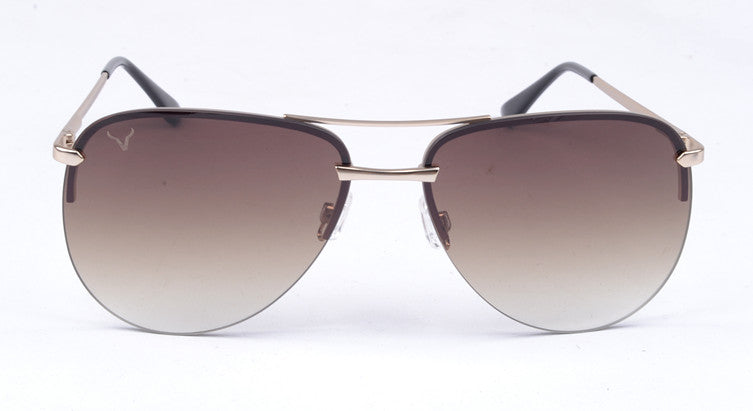 Vexil Brand Sedona Sunglasses - Gold Metal - Brown Gradient Lens
