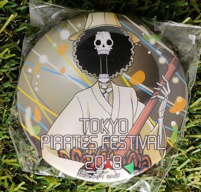 One Piece Brook Tokyo Pirates Festival Button