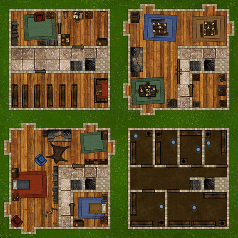 Castle Towers DnD Map Roll20