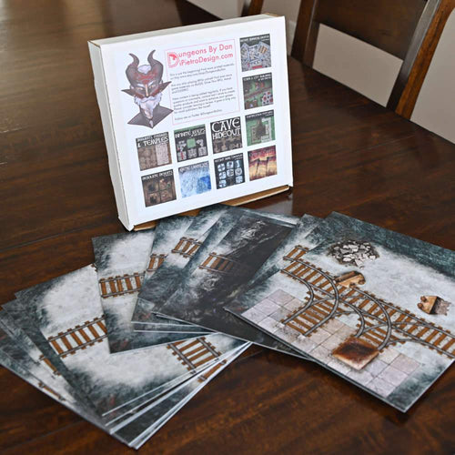 Instant Mine Dungeon Tiles - Dungeons By Dan, Modular terrain and dungeon tiles for tabletop games using battle maps.