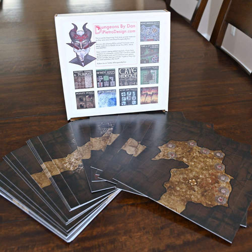 Modular Cave Dungeon Tiles - Dungeons By Dan, Modular terrain and dungeon tiles for tabletop games using battle maps.