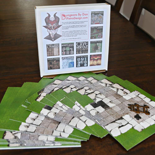 Modular Fortification Castle Tiles - Dungeons By Dan, Modular terrain and dungeon tiles for tabletop games using battle maps.