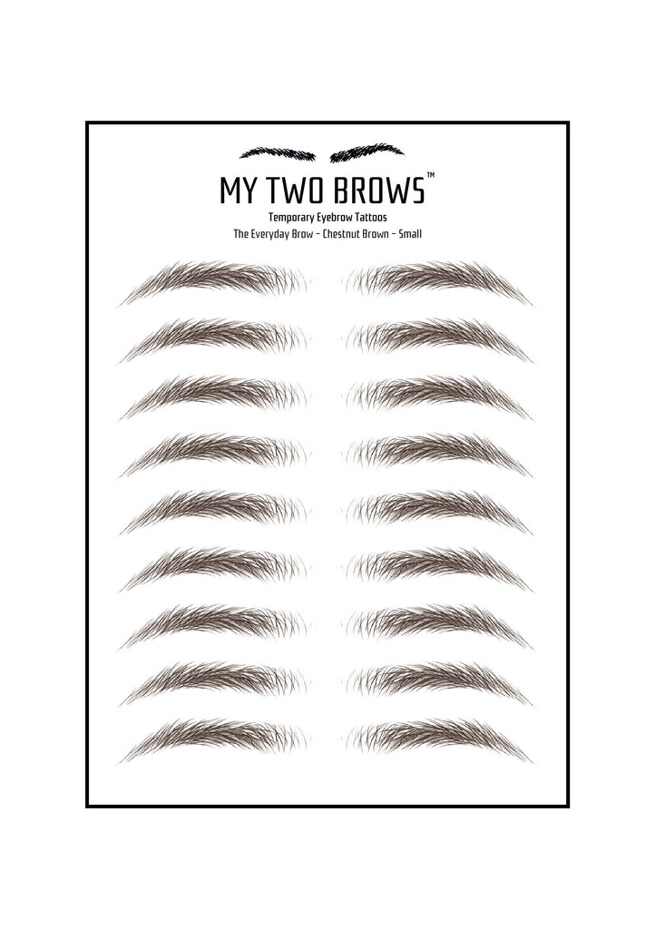 Temporary Eyebrow Tattoo Sheets My Two Brows