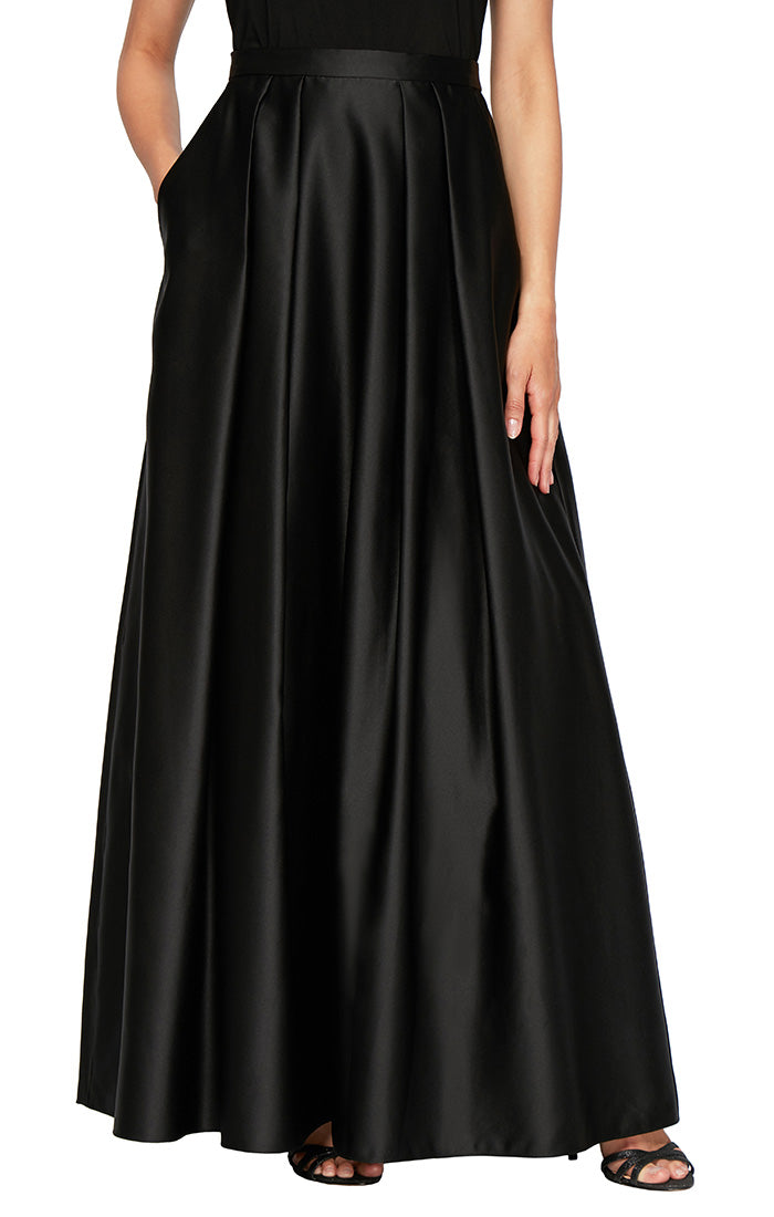 Satin Ballgown Skirt With Pockets