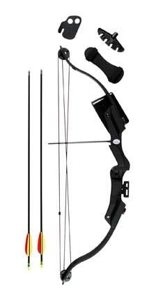 Rush Compound Bow Kit Blk 20lb