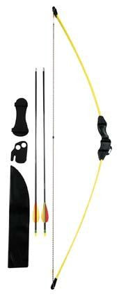 Pounce Youth Bow Recurve Kit 15lb Yel