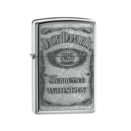 Zippo Lighter - Jack Daniels Label Pewter - ZP250JD427