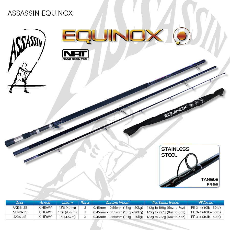 Assassin Equinox Surf Spin 14'6 Rod