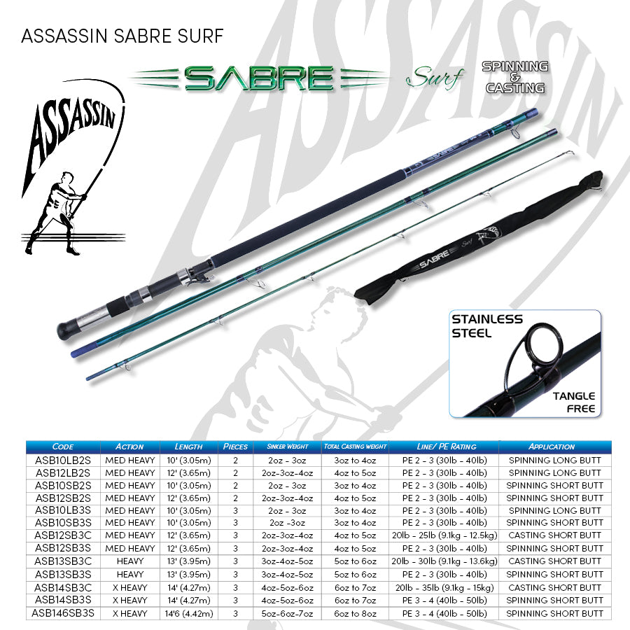 Assassin Sabre Surf 14'' SB Spin Rod