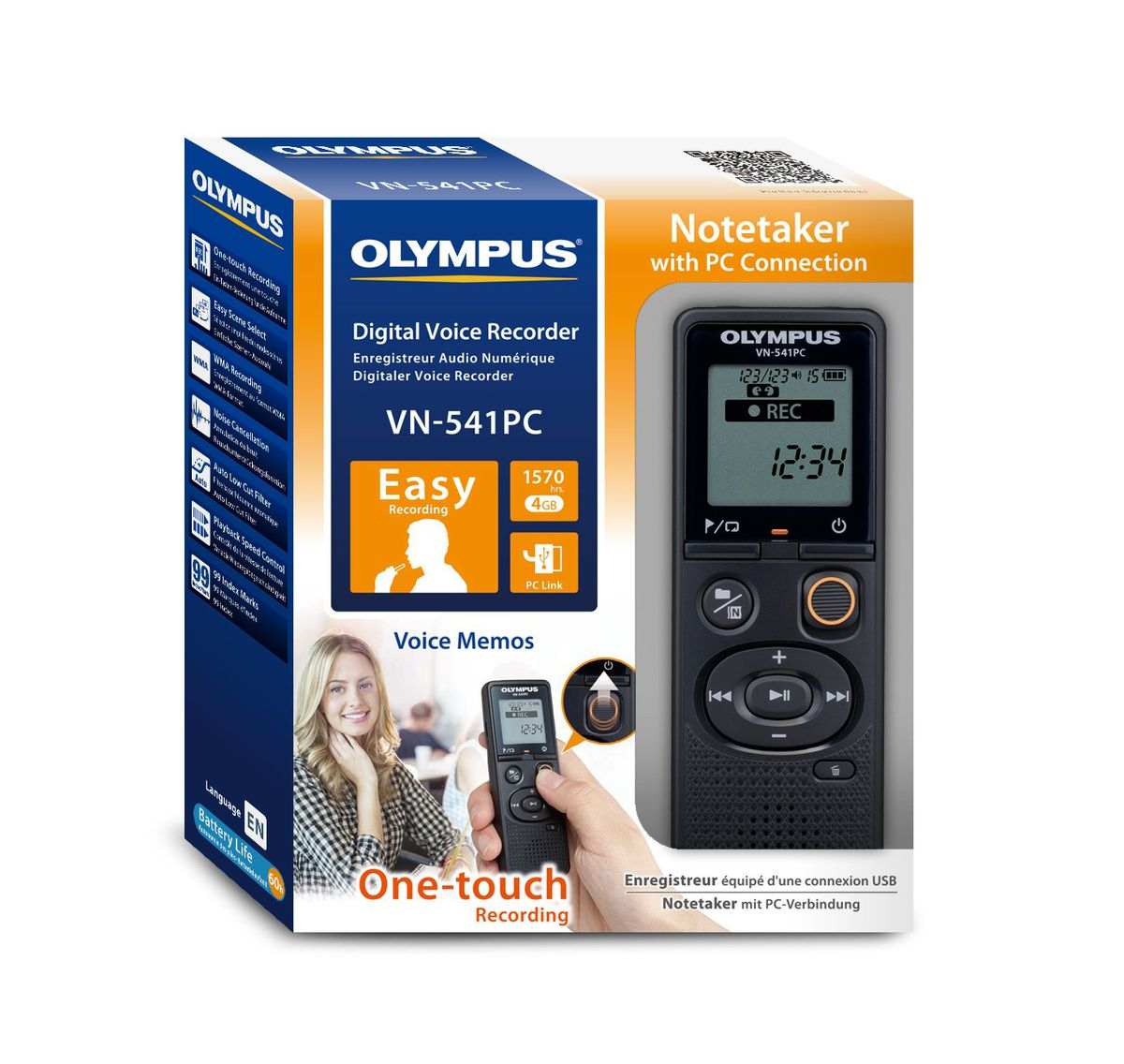 Olympus VN-541PC Digital Stereo Voice Recorder