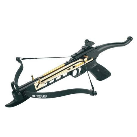 MAN KUNG RECURVE PISTOL CROSSBOW SELF COCKING 80 LBS