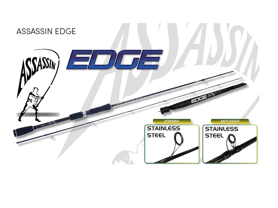 Assassin Edge Multiple Action Spinning 2 Peace 7'' Medium Baitcasting rod