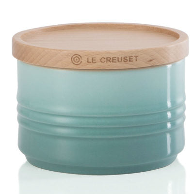 Le Creuset Small Storage Jar with Wooden Lid - Sage