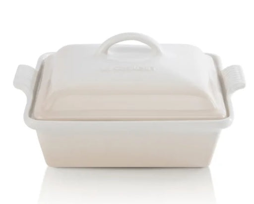 Le Creuset Stoneware Square Dish with Lid, 23cm