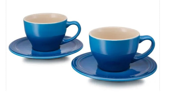 Le Creuset Cappuccino Cup and Saucer, Set of 2 - 0.2L