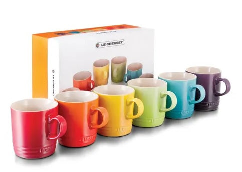 Le Creuset Rainbow Collection Mugs, Set of 6