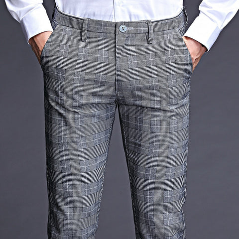 ICPANS Stretch Plaid Business formal pants