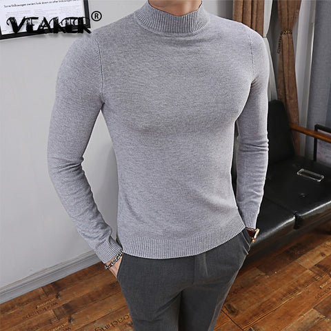 2021 Brand Winter Autumn Men's Knitted Sweater Pullover