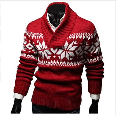 Christmas Sweater Men Autumn Sweater Pullover