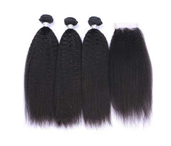 SLEEK Kinky Straight Bundle Deals+Closure