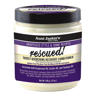 AUNT JACKIE'S Grapeseed Rescued Thirst Quenching Recovery Conditioner (15oz)