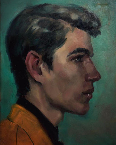 Man in Yellow Jacket by Michael Corner