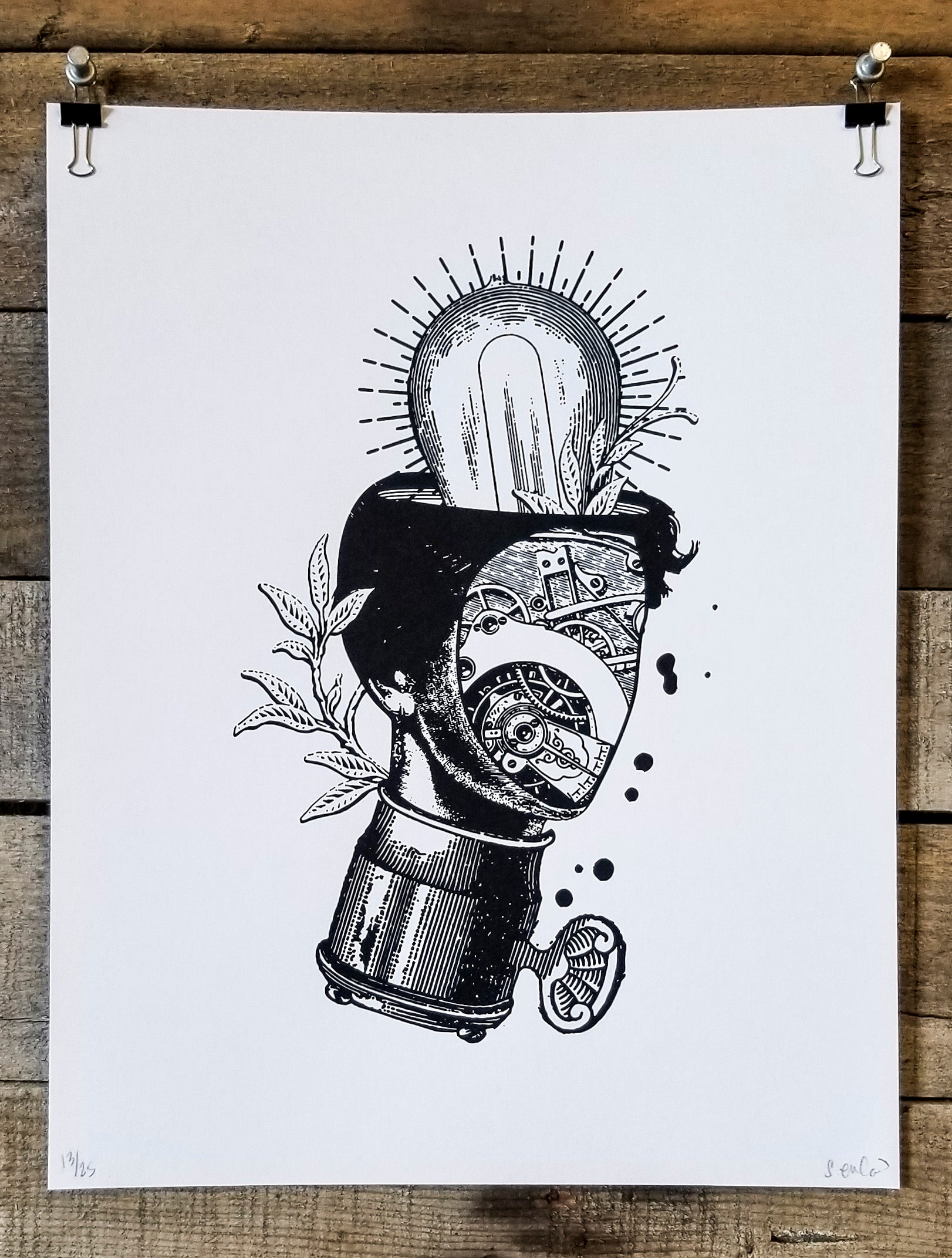 SE Light Gears · 11x14 Print