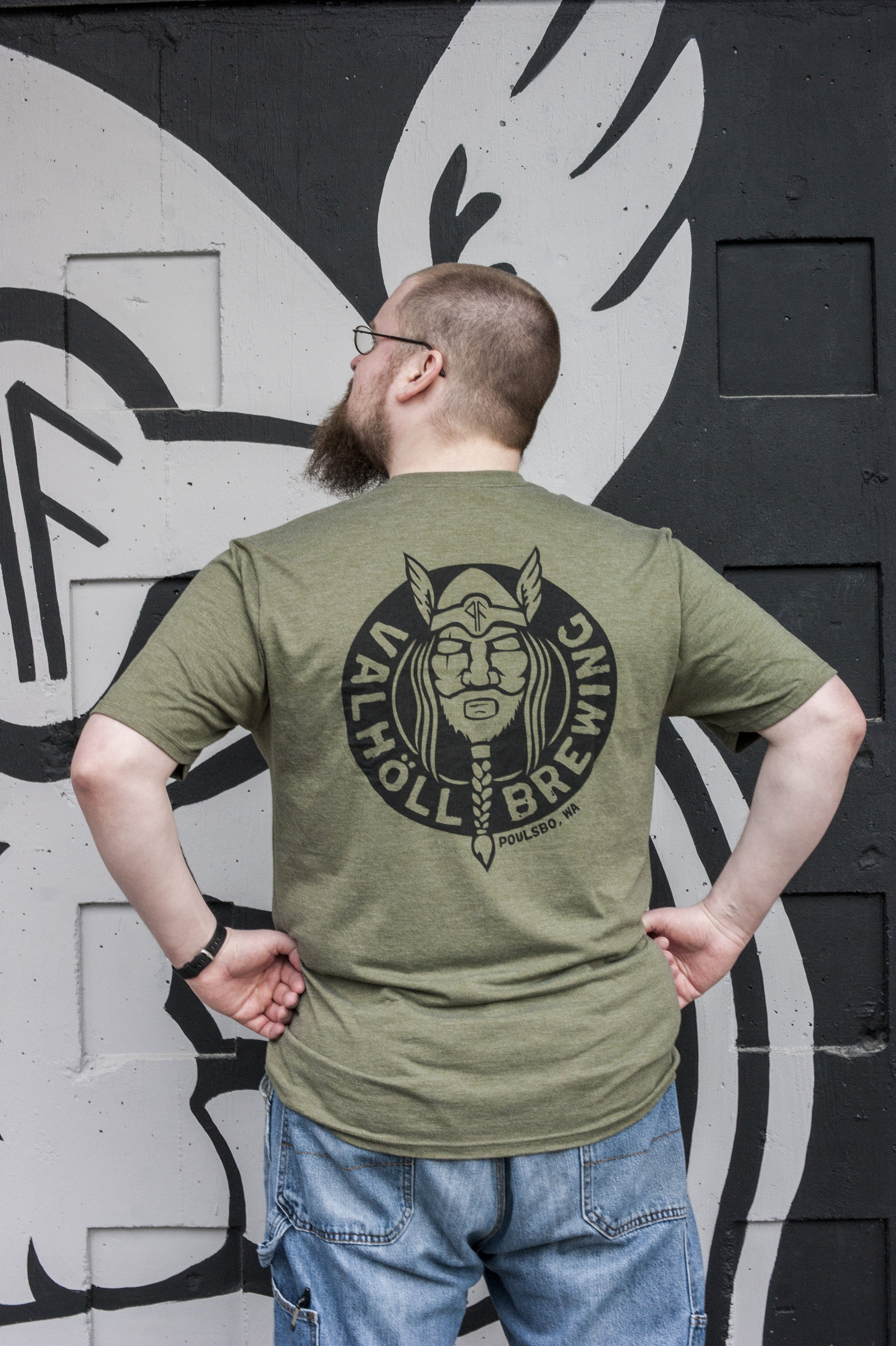 Valholl Brewing – Military Green Tee