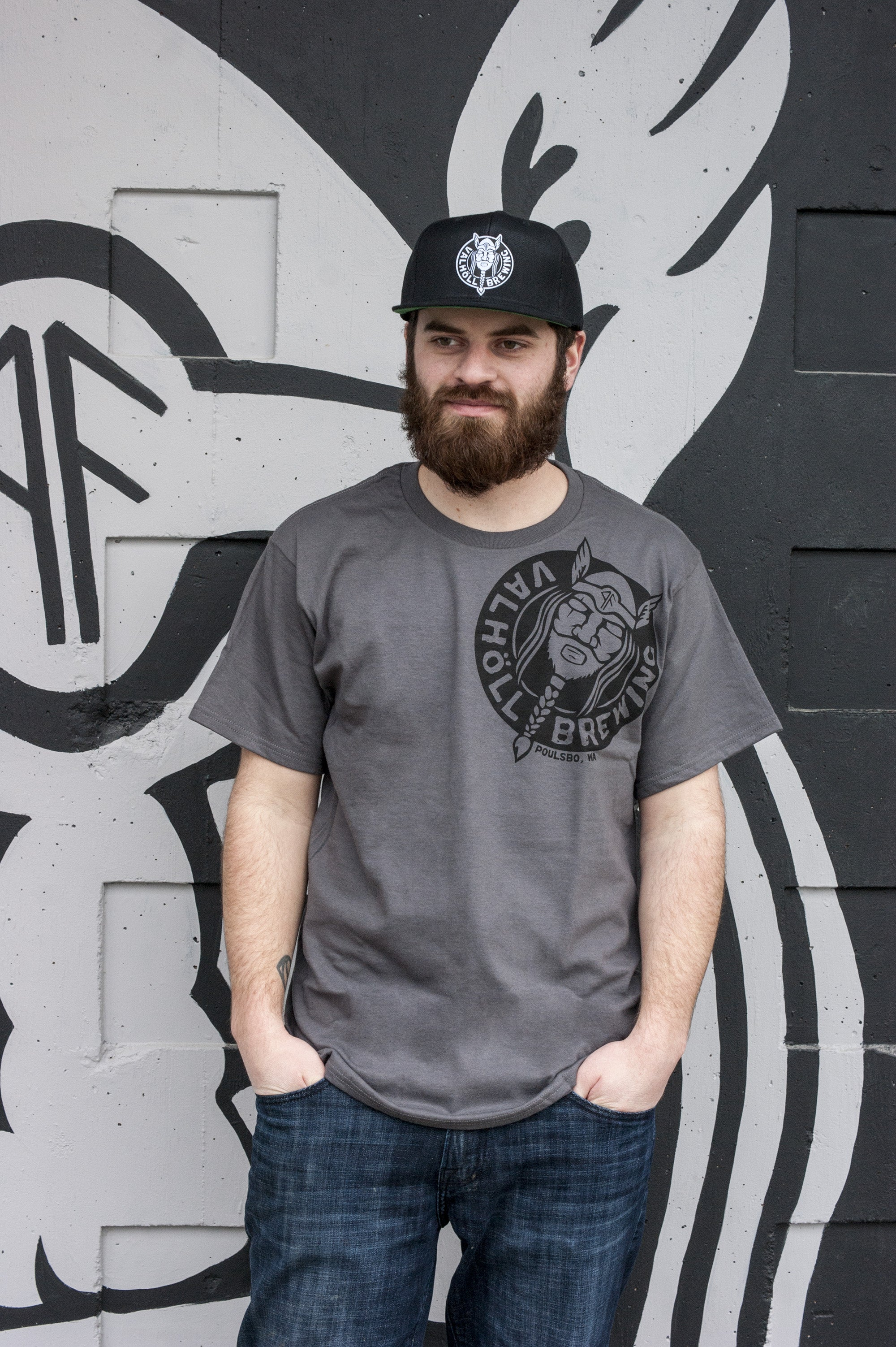 Valholl Brewing – Charcoal Tee