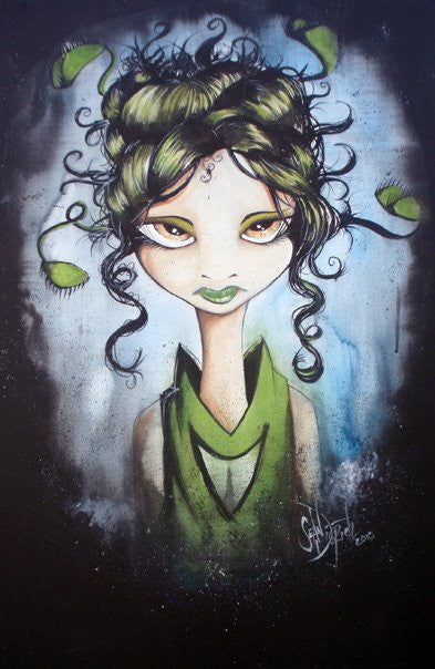 SD Emerald Fly Trap Girl Print