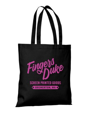 Fingers Duke Screen Printed Goods · Cotton Tote